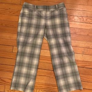 Express plaid dress capris